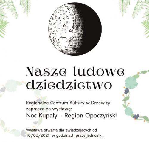 Plakat promujący wystawę Nasze ludowe dziedzictwo.