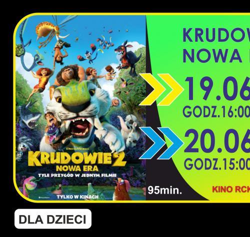 Grafika przedstawia termin filmu 19.06.2021 godzina 16:00 i 20.06.2021 godzina 15:00 oraz miniaturę plakatu.